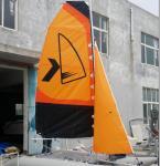 China Easy Take Inflatable Sailing Boat Orange Sailing Cat With Fiberglass Rudder wholesale