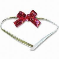 China Sequin Bow with 20mm Width Sequin Tape and 10mm Lurex Tape wholesale