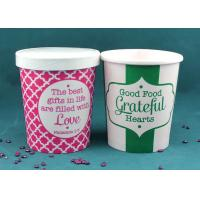 China Paper Disposable Takeaway Soup Cups With Lids For Hot Soup , Heat Insulation wholesale