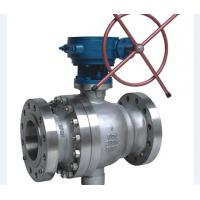 China Metal Seated Cast Steel Ball Valve / Pneumatic Actuated Ball Valve on sale