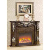 Quality Lightness Adjustable Antique Freestanding Solid Wooden Fireplace With Fake Flame for sale