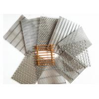 China Copper Architectural Wire Mesh , Cable Rod Weave Architectural Metal Screen on sale