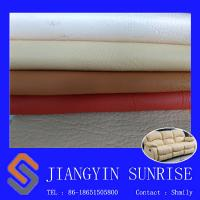 China Abrasion Resistant Sofa Synthetic Leather 0.85mm Pvc Leather Upholstery Fabric wholesale