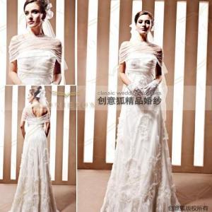China elegant wedding ceremony dresses,  tulle straight wedding ceremony dresses 90022 wholesale