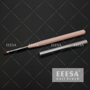 China Wooden Handle Gel Fingernail Polish Acetone Resist UV Coating Round Hair Shape wholesale