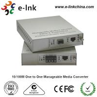 Quality E-link 10 / 100M One to One Manageable Fast Ethernet Media Converter with for sale
