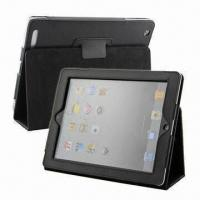 China Leather Case for New iPad, with Stand Function, OEM/ODM Orders Welcome, MOQ is 100pcs wholesale