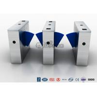 China Multi - Lane Half Height Turnstiles , Optical Flap Barrier Access Control Turnstile wholesale