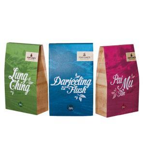 China Eco-friendly Zipper Tea Packaging Bag Matte Finish Square Bottom Printing wholesale