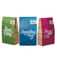 China Matte Finish Square Bottom Tea Bags Packaging Full Colorful Printing wholesale