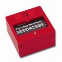 China Break Glass Fire Emergency Exit Release with NO/NC Feature, Measures 86 x 86mm wholesale