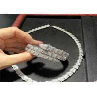 China a fine jewelry brand Custom 18K White Gold Necklace / Bracelet / Earrings With Genuine Diamonds wholesale