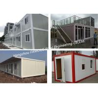 China Folding Living Modern Prefab Homes G +1 Floor Modular Integrated Home For Labour Camp Or Site Office wholesale