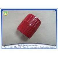 China Milling Machine Custom CNC Aluminum Parts With Red Spray Painting wholesale