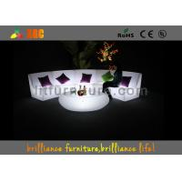 China 16 Colors Changeable LED Bar Tables / Illuminated round bar table wholesale