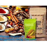 China SIDE GUSSET COFFEE BAGS,STAND UP COFFEE BAGS,KRAFT PAPER COFFEE BAGS Foil Zip Lock Stand Up Food Pouches Bags with Notch wholesale