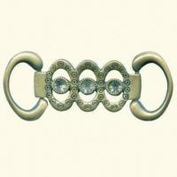 China Decorative Buckle, Comes in Antique Brass Color wholesale