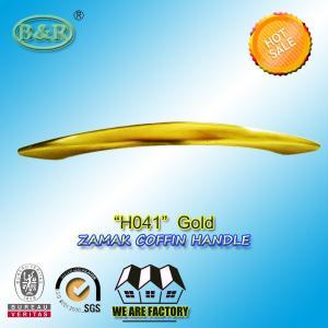 China 28x4.5cm H041 Zinc Alloy coffin Handles gold color zamak coffin hardware wholesale