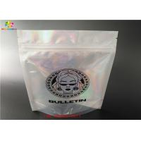 China Holographic Stand Up Zip Lock Bag Laminated Poly Large Plastic Packaging Hologram Foil Sticker wholesale