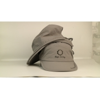 China 2020 Quick dry sports material rubber printing 5panel palstic buckle sports camp hats caps wholesale