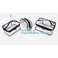 China PVC Zip Lock Plastic Cosmetic Travel Packaging Bag, Travel Set Stand Up Bags For Agency With Custom Logo, Waterproof Pla wholesale
