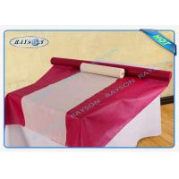 China Pre Cut Pp Non Woven Tablecloth 50gram Rolled Packed By Heat Shrink Film wholesale
