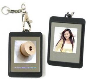 China 1.1 inch oval shape digital photo key chain wholesale