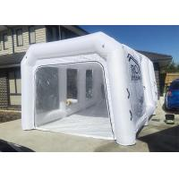 China White Inflatable Auto Paint Booth / Spray Paint Tent Customized Size on sale