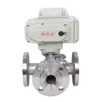 China Electric Industrial Control Valves Stainless Steel 3 Way Flanged Ball Valve on sale