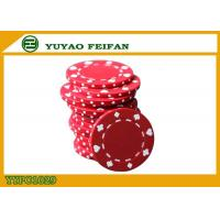 China Poker And Clubs Pattern Clay Composite Poker Chips 13.5G PANTONE Colors wholesale