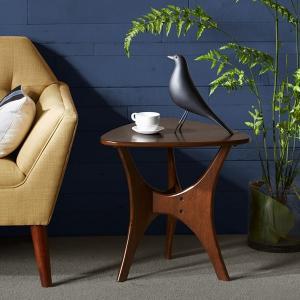 Buy cheap Triangle Base Bedroom Corner End Table Birch VeneerIn Natural Wood Tones from wholesalers