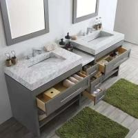 China Natural Marble Stone Countertops , Custom Vanity Tops For Hospitality Remodeling wholesale