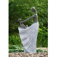 Decorative Garden Fountains , Statue Water Fountains With Plastic Pump Material