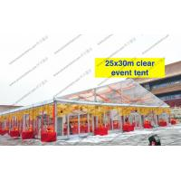 China Transparent Roof Clear Span Tent 20m x 30m Glass Walls For Wedding / Party wholesale