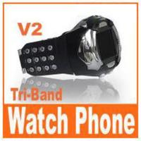 China V2 - CE passed watch mobile phone wholesale