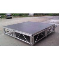 China Square Adjustable Aluminum Folding Stage , Performance Mobile Stage Platform wholesale