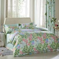 China Luxury Beautiful Home Bedding Sets Twin Size / Queen Size Silk Material wholesale