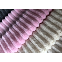 Quality Stripe Pattern 2mm Minky Plush Fabric Making Soft Toys for sale