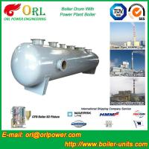 China High pressure hot water boiler mud drum ASME certification manufacturer wholesale