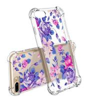Flower Slim Scratch Resistant TPU Bumper Cover PC Cell Phone Cases For IPhone 7