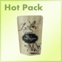 China Resealable Stand Up Pouch Kraft Paper Bag With Zipper For Tea on sale