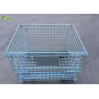China Galvanized Steel Transport Collapsible Cage Storage Shelves Wire Mesh Crate wholesale