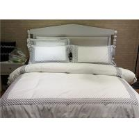 China Embroidered Cotton Duvet Covers , Pretty White Duvet Covers And Shams wholesale