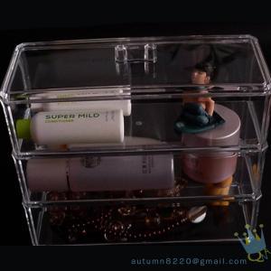 China 5 drawer acrylic makeup organizer wholesale