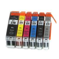 China Canon Black / Cyan Computer Ink Cartridges Recycling With Auto Reset Chip wholesale