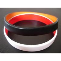 China 2 layers silicone bracelet, Top quality two layers silicone bracelet,wristbands, Custom made colors wholesale