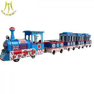 China Hansel  Amusement park children train rides for sale electric trackless kids train on sale