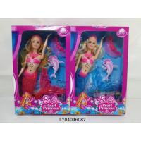 "China 2015 Popular item 11"" Mermaid with light,music wholesale"