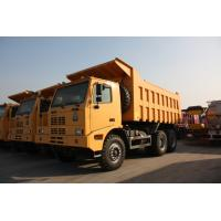 China Yellow Heavy Duty Dump Truck / 10 Wheeler Dump Truck With Steel Cargo Box wholesale