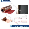 Red / Black Fatigue Resistance Treated Ra Copper Foil 12um 18um 25um for sale